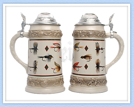 Fishing Flies Beer Stein