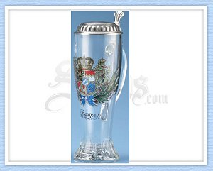 Oktoberfest beer stein Bavarian coat of arms