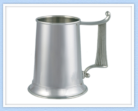 Celtic Harp Pewter Tankard