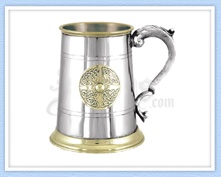 Golden Kells Pewter Tankard