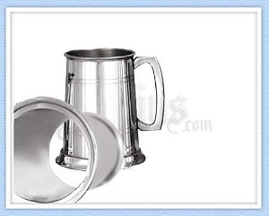 EP001GB - Glass Bottom Pewter Tankard