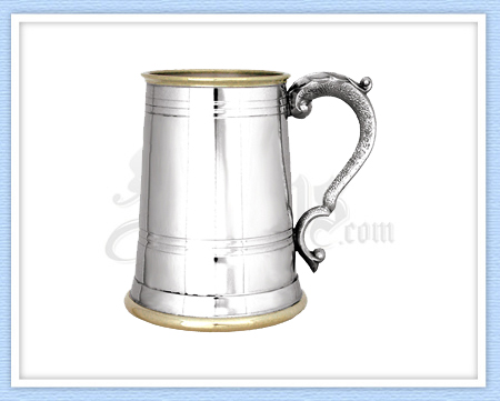 Banded Pewter Tankard