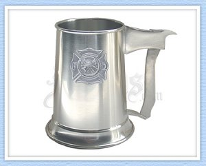 Fireman's Shield Pewter Tankard