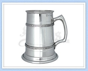 Celtic Knot Pewter Tankard