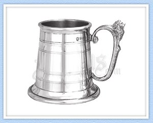 Lion Head Pewter Tankard