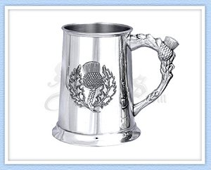 Thistle Pewter Tankard