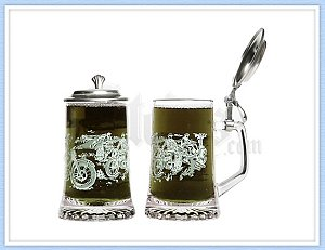 Motorcycle Beer Stein