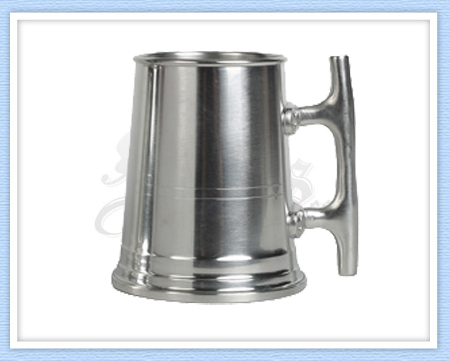 Nautical Pewter Tankard - 22 Oz