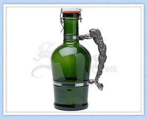 614 - Green Hop Handle Beer Growler