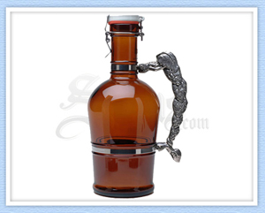 Amber Hop Handle Beer Growler