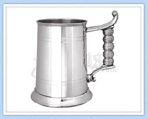 Rope Handle Pewter Tankard
