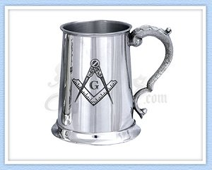 Masonic Pewter Tankard